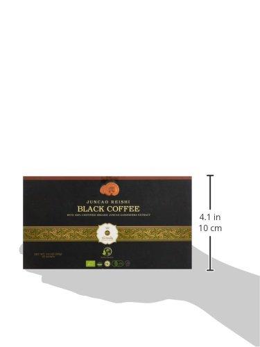 Healthy and Delicios Organo-Schwarzer Kaffee, mit zertifiziertem Bio-Ganoderma, 30 Beutel pro Box