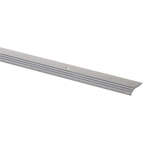 (M-D Building Products 78089 Fluted 7/8-Inch by 72-Inch Carpet Trim, Silver)