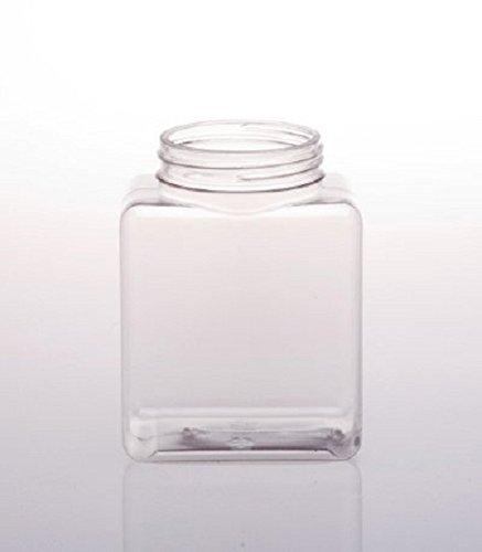 FixtureDisplays 20oz PVC Small Squares Jar - 90pk 106117!