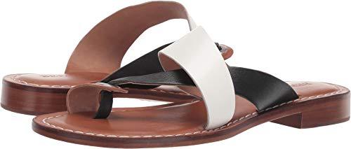 Bernardo Women's Tia Sandal White/Black/Luggage 8.5 M US