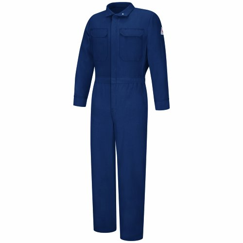 Bulwark Flame Resistant 4.5 oz Nomex IIIA Regular Premium Coverall with Navy, X-Large ()