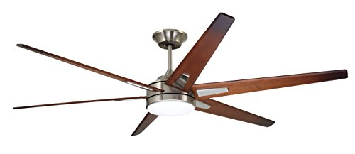 (Emerson CF915W72BS 72-inch Modern Rah Eco Ceiling Fan, 6-Blade Ceiling Fan with LED Lighting and 6-Speed Wall Control)