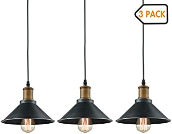 Dazhuan 3-Lights Pendant Metal Hanging Kitchen Farmhouse Lighting Fixture
