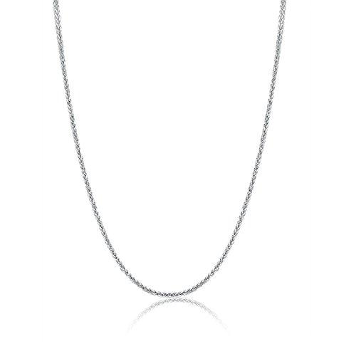 /14carats 585or blanc diamant Spiga blé chaîne-1.50mm-Longueur Au Choix