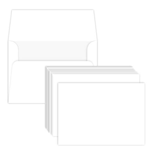 Heavyweight Blank White Note Cards and Envelopes | 4 1/4