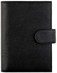 TMYQM ノートブック、革で満たされたメモ帳、ルーズリーフブック-日記メモ日記と計画-美しいギフトボックス/ 80枚 持ち運びできる本を書く (Color : Black, Size : A)