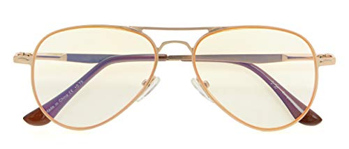 UV Protection,Anti Blue Rays,Reduce Eyestrain,Pilot Style Computer Reading Glasses