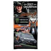 Martin Truex Jr 2017 Monster Energy Nascar Cup Series Champion Spectra Beach Towel