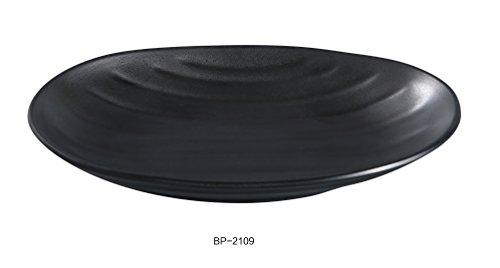 "Yanco BP-2109 Black pearl-1 Oval Deep Plate, 9.5"" Diamete..."