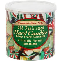 ((2 Pack) Washburns Old Fashioned Hard Candy ( 8 oz Canisters))