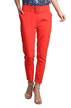 SmokyTrends Cropped Pant - Red
