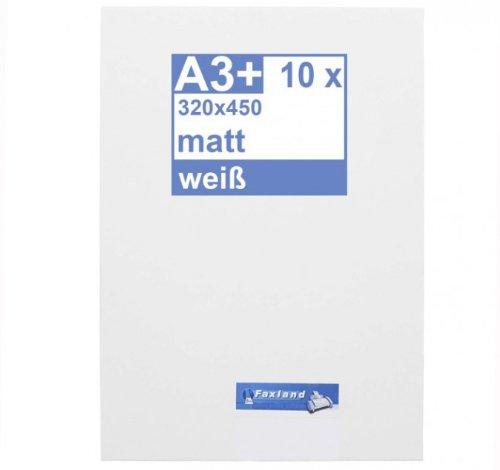 Klebefolie 10 x DIN A3 weiß matt - Druckerfolie, klebend, zum bedrucken, Wetterfest, Wasserfest für Laserdrucker, Outdoor