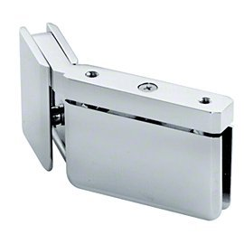 Satin Chrome 135 Glass - Satin Chrome LH 135 Degree Prima Hinge with U-Clamp