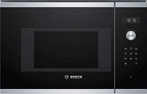 Bosch Serie 6 BFL524MS0 Incasso Solo microonde 20L 800W Nero, Acciaio inossidabile forno a microonde