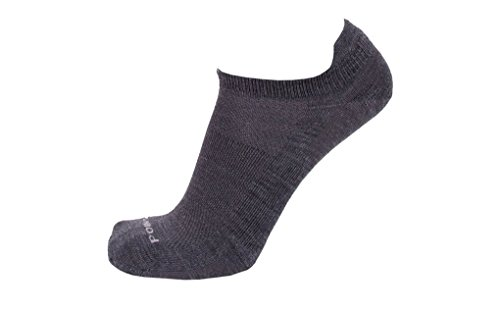 Point6 37.5, Ultra Light No-Show sock - X Large, Gray with a Helicase sock ring