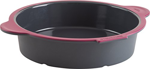 Trudeau 09914011 Structure Round Cake Pan in Silicone, Grey/Pink by Trudeau