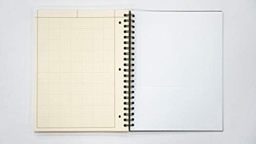 Engineering Paper Spiralblock, 200 Blatt, Grau