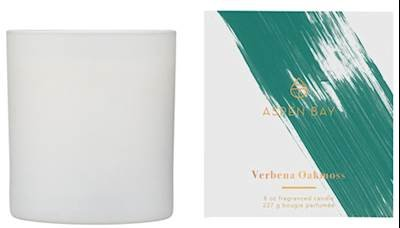 Aspen Bay Verbena Oakmoss Boxed Tumbler 8 Ounce Signature Collection Scented Jar Candle (Ounce 8 Jar Boxed)