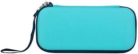 SzKing イヤホンケーブルゲームカードEVAハードケースのための新しい防水バッグ任天堂のためのスイッチライトポータブルミニバッグは、任天堂のスイッチをフィット ホット (Color : Sky Blue)