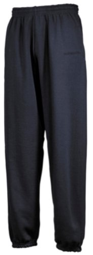 Fruit Of The Loom Mens Elasticated Cuff Jog Pants/Jogging Bottoms (L) (Black)