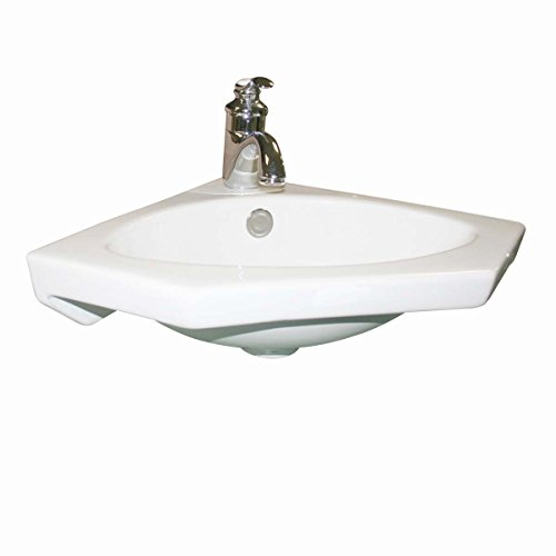 Classic White Corner Sink - Wall Mount Corner Sink