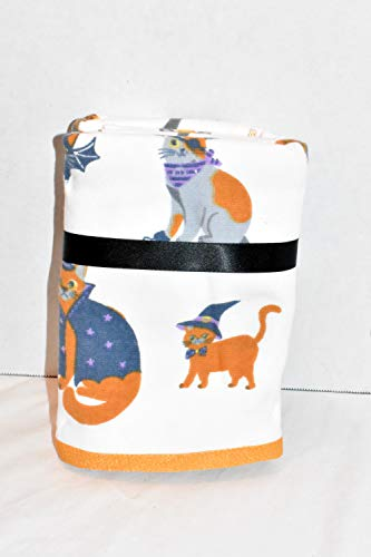 BROOMSTICK & CAULDRON New 2pc Set Cats Dressed in Halloween Costumes Kitchen OR Bathroom Dish Hand -