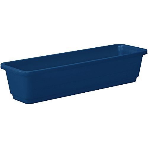 Almi Planter Window Plastic Flower Box 24-Inch Plant , Blue (Blue Planter Plastic)