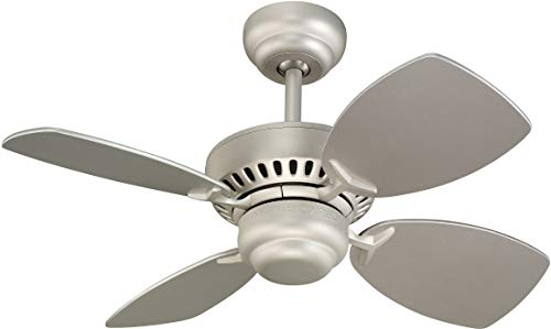 """Monte Carlo 4CO28BP Colony II Ceiling Fan, 28"""", Brushed Pewter"""