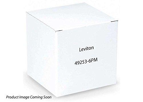 Leviton 49253-6PM Horizontal Patch Cord Organizer Flat 1RU 6