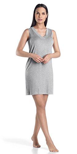 Hanro Women's Champagne Tank Gown, Grey Melange, ()