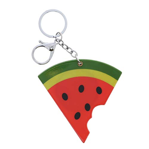 Compact Fruit Mirror Keychain Charm-Watermelon Slice