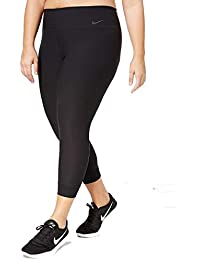 Womens Plus Training Cropped Athletic Leggings Black 2X