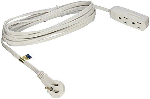 SlimLine 2232 Flat Plug Extension Cord, 3-Wire, White, 13-Foot (Coleman Slimline compare prices)