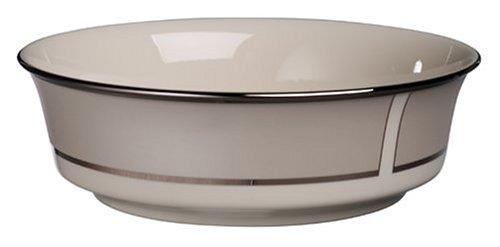 Lenox Ivory Frost Platinum Banded Ivory China Serving ()