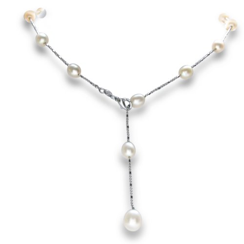 Freshwater Pearls By The Yard Necklace Tin Cup Style 18 inch
