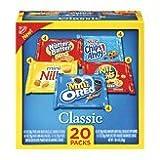 Nabisco Classic Mix 20 Snack Packs: 4 Chips Ahoy!, 4 Nutter Butter Bites, 4 Mini Oreo, 4 Mini-Nilla, 4 Ritz Bits