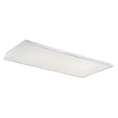 Grid Ceiling Light - EnviroLite 2 ft. x 4 ft. 128-Watt Equivalent White Lens Integrated LED Commercial Grid Ceiling Troffer