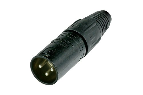 Neutrik NC3MX-BAG.POLY 3-Pin M Cable MT XLR, Black