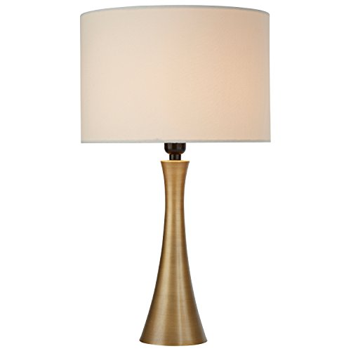 Rivet Needle Curved Brass Table Lamp, 21