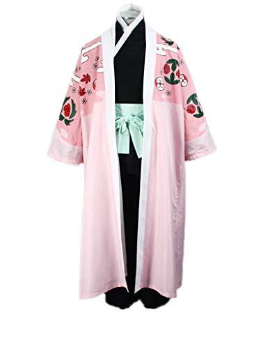 Wsysnl Halloween Japanese Anime Cosplay Costume Uniform for Shunsui Kyoraku V3 Pink ()