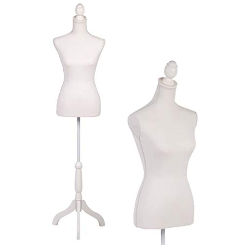 Mannequin Dress Form Female Dress Model Torso Display Mannequin Body 60-67 Inch Height Adjustable Tripod Stand