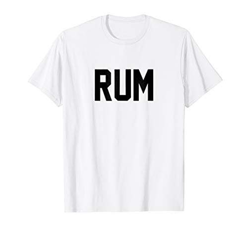 (Mens Rum T-Shirt for Halloween Couples Costume: Rum and Cola XL White)