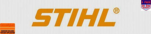 stihl 4 Stickers 4x4 Inches Car Bumper Window Sticker Decal canvasbylam