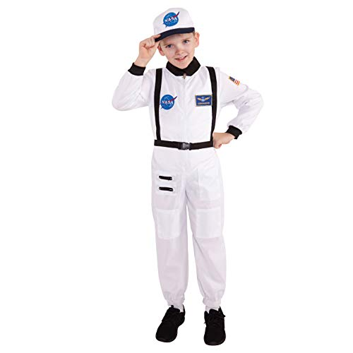 Morph Kids Astronaut Costume Childs Spaceman Uniform Space Dress Up - Small (Age ()