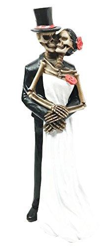 Ebros Love Never Dies Eternal Wedding Skeleton Statue Wedding Pose Couple Figurine Dias De Los Muertos Day Of The Dead Decor Sculpture ()