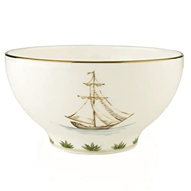 Lenox Colonial Tradewind Gold Banded Bone China Rice Bowl
