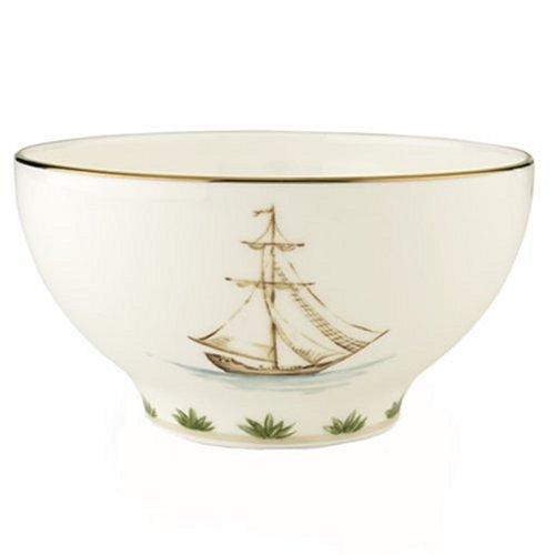 Gold Rice Bowl - Lenox Colonial Tradewind Gold Banded Bone China Rice Bowl