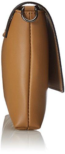 CTM Clutch para mujer, pequeno bolso de hombro con cinturon de hombro en el interior - 26x18x6 Cm Naranja (Cuoio)