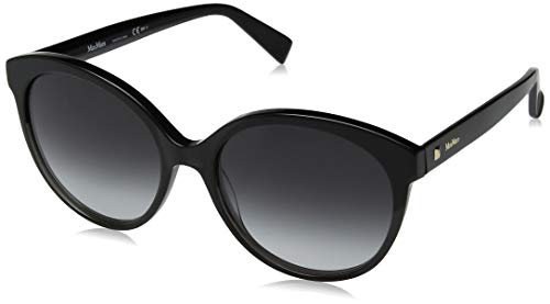 Max Mara Women's Mm Eyebrow Rectangular Sunglasses GREYBLCK 52 ()