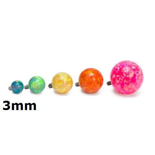 Painful Pleasures 14g - 12g Internally Threaded Opal Replacement Ball - 3mm - Price Per 1-3mm ~ 1/8